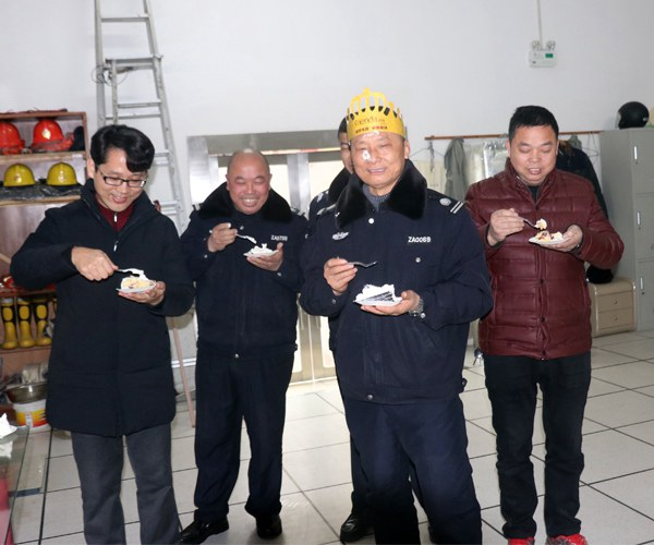 Happy birthday to employee huang deshi